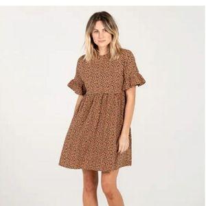 RYLEE CRU Cheetah Babydoll Dress size S